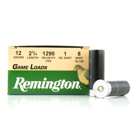 Image For 25 Rounds Of 1 oz. #8 Shot 12 Gauge Remington Ammunition