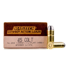 Image For 50 Rounds Of 250 Grain LFN Boxer Brass 45 Long Colt Magtech Ammunition