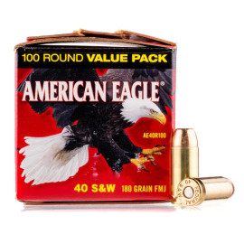 Image For 100 Rounds Of 180 Grain FMJ Boxer Brass 40 Cal Federal Ammunition