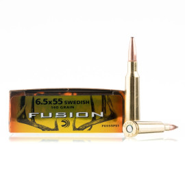 Image For 20 Rounds Of 140 Grain Fusion Boxer Brass 6.5x55mm Federal Ammunition