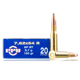 Image For 20 Rounds Of 150 Grain SPBT Boxer Brass 7.62x54r Prvi Partizan Ammunition