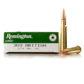 Image For 20 Rounds Of 174 Grain MC Boxer Brass 303 British Remington Ammunition