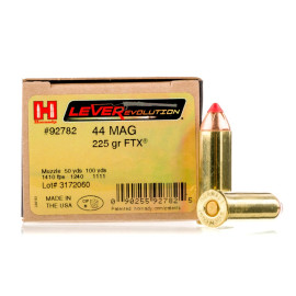 Image For 200 Rounds Of 225 Grain FTX Boxer Brass 44 Magnum Hornady Ammunition
