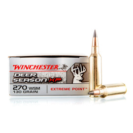 Image For 20 Rounds Of 130 Grain Polymer Tipped Boxer Brass 270 Win Short Mag Winchester Ammunition