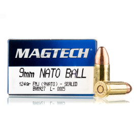 Image For 1000 Rounds Of 124 Grain FMJ Boxer Brass 9mm Magtech Ammunition
