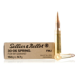 Image For 400 Rounds Of 150 Grain FMJ Boxer Brass 30-06 Sellier and Bellot Ammunition