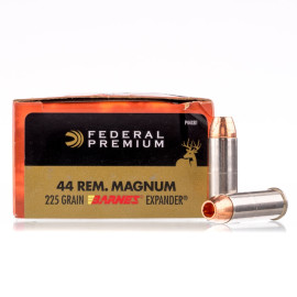 Image For 20 Rounds Of 225 Grain JHP Boxer Brass 44 Magnum Federal Ammunition