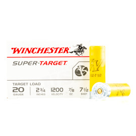 Image For 25 Rounds Of 7/8 oz. #7-1/2 Shot 20 Gauge Winchester Ammunition
