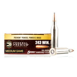 Image For 20 Rounds Of 100 Grain SPBT Boxer Brass 243 Win Federal Ammunition