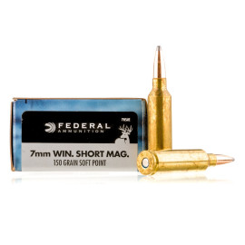 Image For 20 Rounds Of 150 Grain SP Boxer Brass 7mm Win Short Mag Federal Ammunition