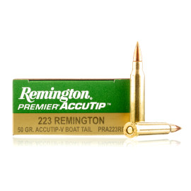 Image For 20 Rounds Of 50 Grain Accutip Boxer Brass 223 Rem Remington Ammunition