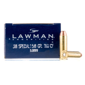 Image For 1000 Rounds Of 158 Grain TMJ Boxer Brass 38 Special Speer Ammunition