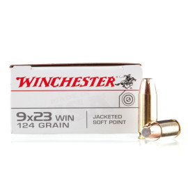 Image For 50 Rounds Of 124 Grain JSP Boxer Brass 9x23 Winchester Winchester Ammunition