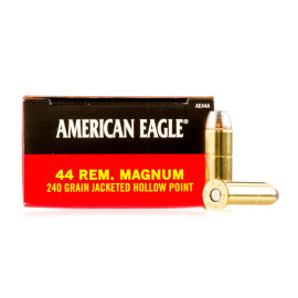 Image For 1000 Rounds Of 240 Grain JHP Boxer Brass 44 Magnum Federal Ammunition