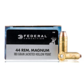 Image For 20 Rounds Of 180 Grain JHP Boxer Brass 44 Magnum Federal Ammunition