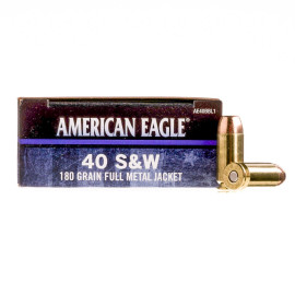 Image For 50 Rounds Of 180 Grain FMJ Boxer Brass 40 Cal Federal Ammunition