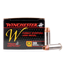 Image For 20 Rounds Of 130 Grain JHP Boxer Nickel-Plated Brass 38 Special Winchester Ammunition