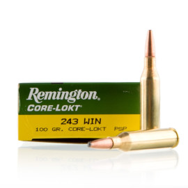 Image For 20 Rounds Of 100 Grain PSP Boxer Brass 243 Win Remington Ammunition