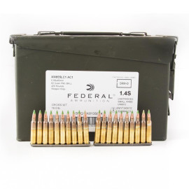 Image For 420 Rounds Of 62 Grain FMJ Boxer Brass 5.56x45 Federal Ammunition