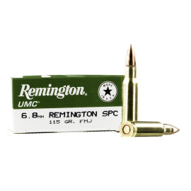 Image For 20 Rounds Of 115 Grain MC Boxer Brass 6.8 SPC Remington Ammunition