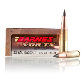 Image For 20 Rounds Of 120 Grain Polymer Tipped Boxer Brass 300 Blackout Barnes Ammunition