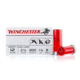 Image For 100 Rounds Of 1-1/8 oz. #8 Shot 12 Gauge Winchester Ammunition