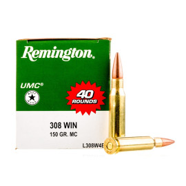 Image For 400 Rounds Of 150 Grain MC Boxer Brass 308 Win Remington Ammunition