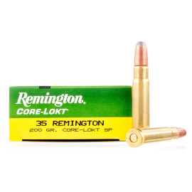 Image For 20 Rounds Of 200 Grain SP Boxer Brass 35 Rem Remington Ammunition