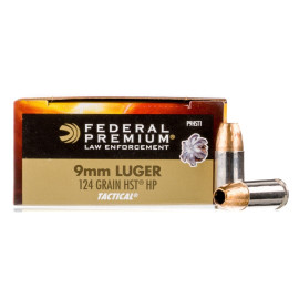 Image For 1000 Rounds Of 124 Grain JHP Boxer Nickel-Plated Brass 9mm Federal Ammunition