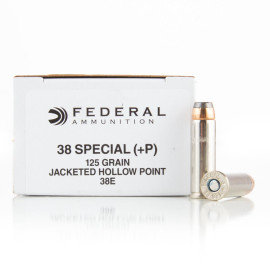 Image For 50 Rounds Of 125 Grain JHP Boxer Nickel-Plated Brass 38 Special Federal Ammunition