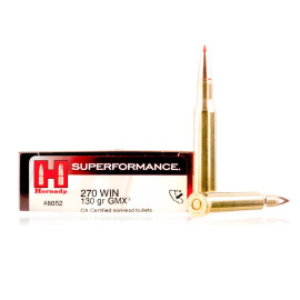 Image For 20 Rounds Of 130 Grain GMX Boxer Brass 270 Win Hornady Ammunition