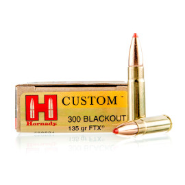 Image For 20 Rounds Of 135 Grain FTX Boxer Brass 300 Blackout Hornady Ammunition