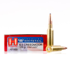 Image For 20 Rounds Of 129 Grain SP Boxer Brass 6.5 Creedmoor Hornady Ammunition