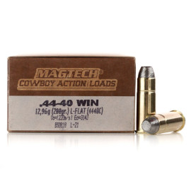Image For 50 Rounds Of 200 Grain LFN Boxer Brass 44-40 Win Magtech Ammunition