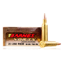 Image For 20 Rounds Of 50 Grain TSX Boxer Brass 22-250 Rem Barnes Ammunition