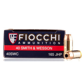 Image For 50 Rounds Of 165 Grain JHP Boxer Brass 40 Cal Fiocchi Ammunition