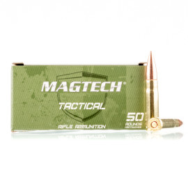 Image For 50 Rounds Of 123 Grain FMJ Boxer Brass 300 Blackout Magtech Ammunition