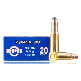 Image For 20 Rounds Of 123 Grain SP Boxer Brass 7.62x39 Prvi Partizan Ammunition