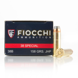 Image For 50 Rounds Of 158 Grain JHP Boxer Brass 38 Special Fiocchi Ammunition