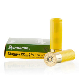 Image For 250 Rounds Of 5/8 oz. Rifled Slug 20 Gauge Remington Ammunition