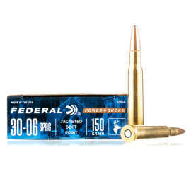 Image For 20 Rounds Of 150 Grain SP Boxer Brass 30-06 Federal Ammunition