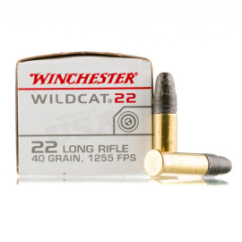 Image For 500 Rounds Of 40 Grain LRN Rimfire Brass 22 LR Winchester Ammunition