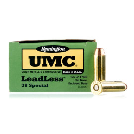 Image For 50 Rounds Of 125 Grain FNEB Boxer Brass 38 Special Remington Ammunition