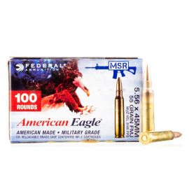 Image For 500 Rounds Of 55 Grain FMJ-BT Boxer Brass 5.56x45 Federal Ammunition