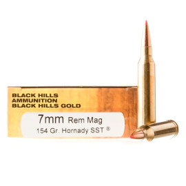 Image For 20 Rounds Of 154 Grain SST Boxer Brass 7mm Rem Magnum Black Hills Ammunition Ammunition