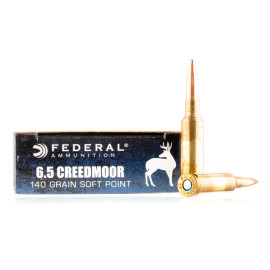 Image For 20 Rounds Of 140 Grain JSP Boxer Brass 6.5 Creedmoor Federal Ammunition