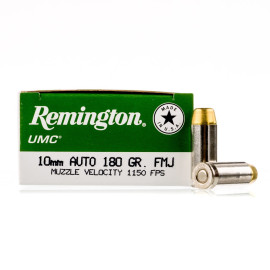 Image For 50 Rounds Of 180 Grain FMJ Boxer Nickel-Plated Brass 10mm Remington Ammunition