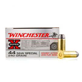 Image For 500 Rounds Of 240 Grain LFN Boxer Brass 44 S&W Special Winchester Ammunition