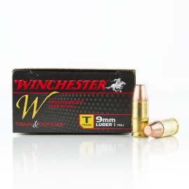 Image For 50 Rounds Of 147 Grain FMJ Boxer Brass 9mm Winchester Ammunition