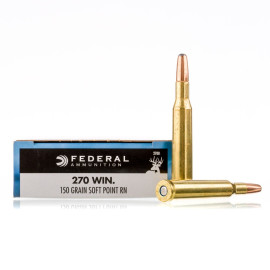 Image For 20 Rounds Of 150 Grain SP Boxer Brass 270 Win Federal Ammunition